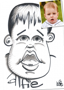 birthday baby caricature